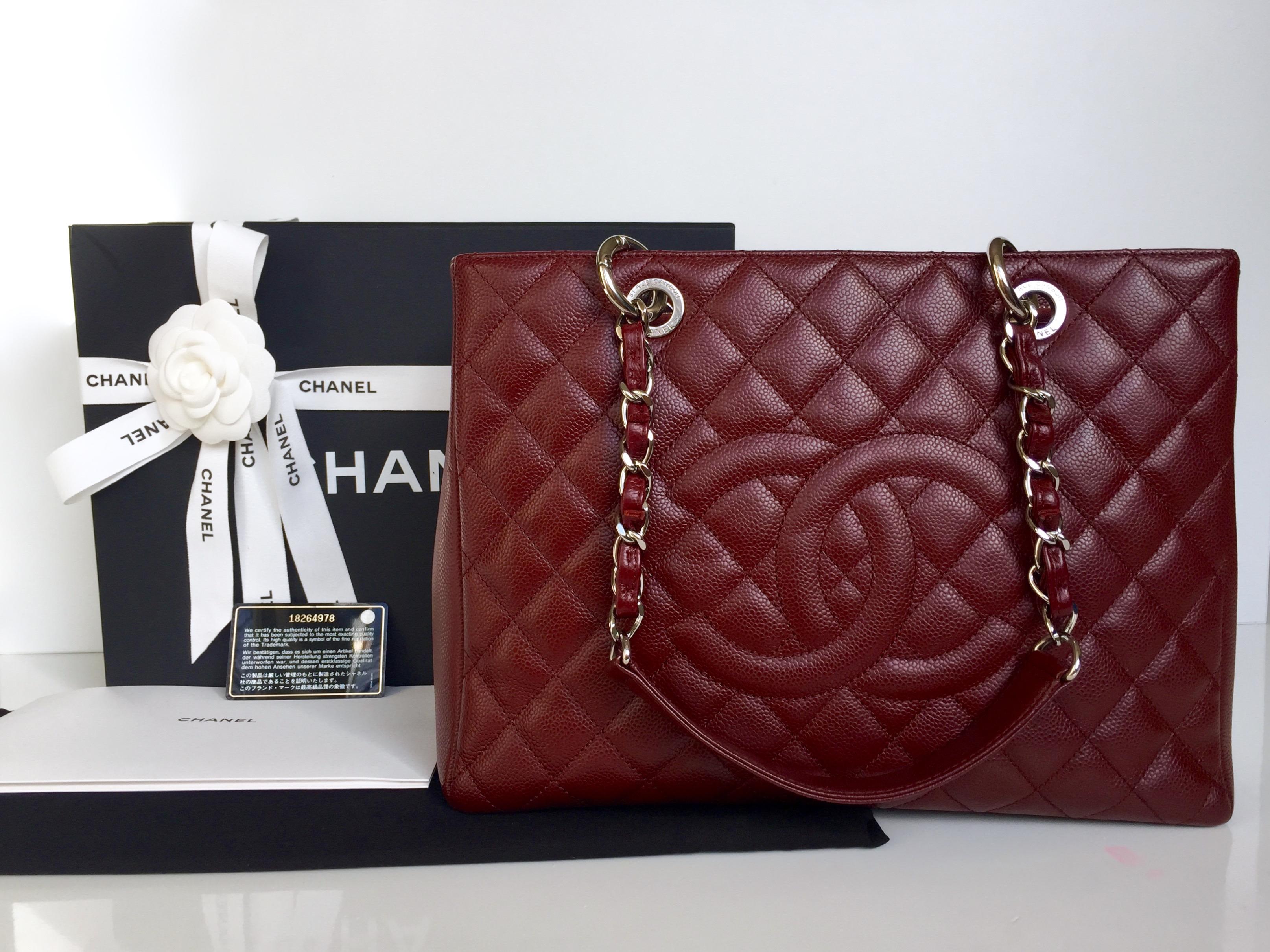 e9856680ebc0 Home/Chanel/CHANEL Grand Shopping Tote (GST) Burgundy Caviar Silver  Hardware 2013. ; 