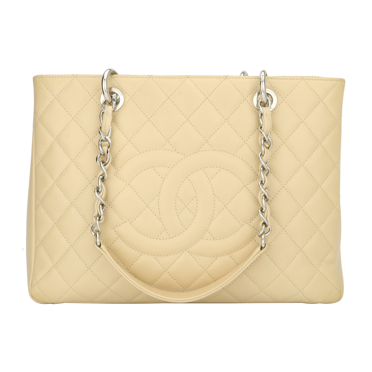 5e1a85bb1a00 Home Chanel CHANEL Grand Shopping Tote (GST) Beige Caviar Silver Hardware  2012.   