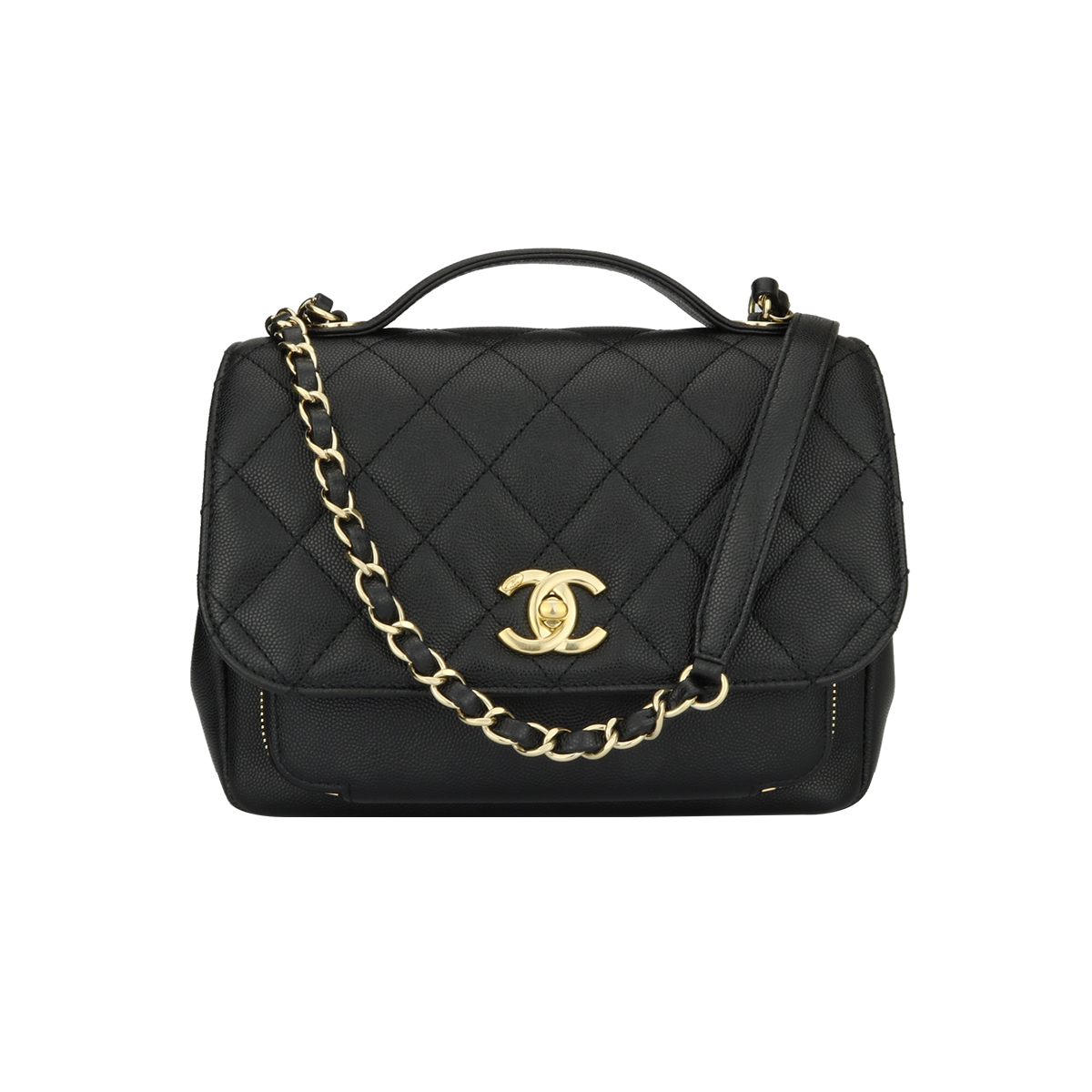878a216d309d Home/Chanel/CHANEL Business Affinity Medium Black Caviar Champagne Hardware  2017. ; 