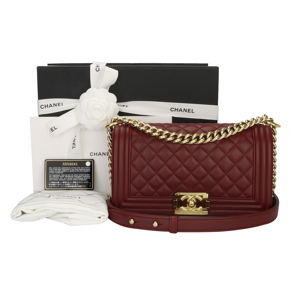 4dd6402645bd Home/Chanel/CHANEL Old Medium Quilted Boy Burgundy Lambskin Shiny Gold  Hardware 2015. ; 