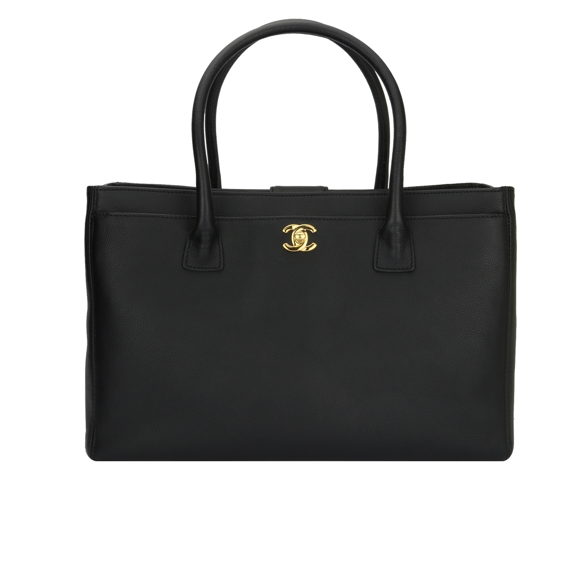 5cfe43c4717a CHANEL Executive Cerf Tote Black Calfskin Gold Hardware 2013 - BoutiQi Bags