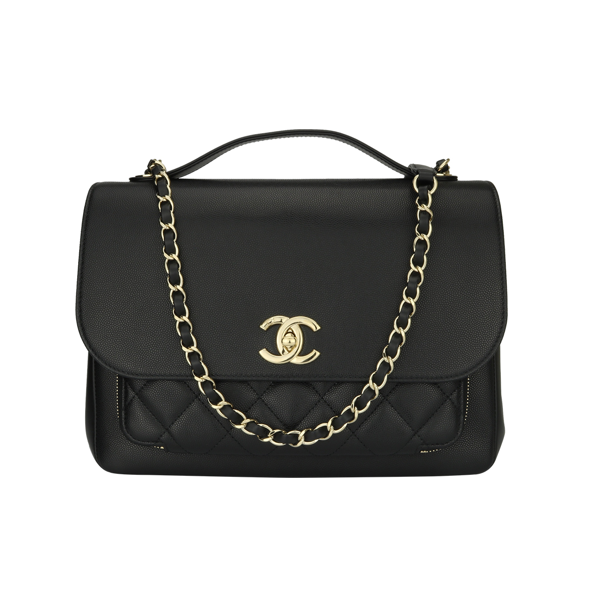 9a87ec1ff2be93 Home/Chanel/CHANEL Business Affinity Large Black Caviar/Calf Champagne  Hardware 2017. ; 