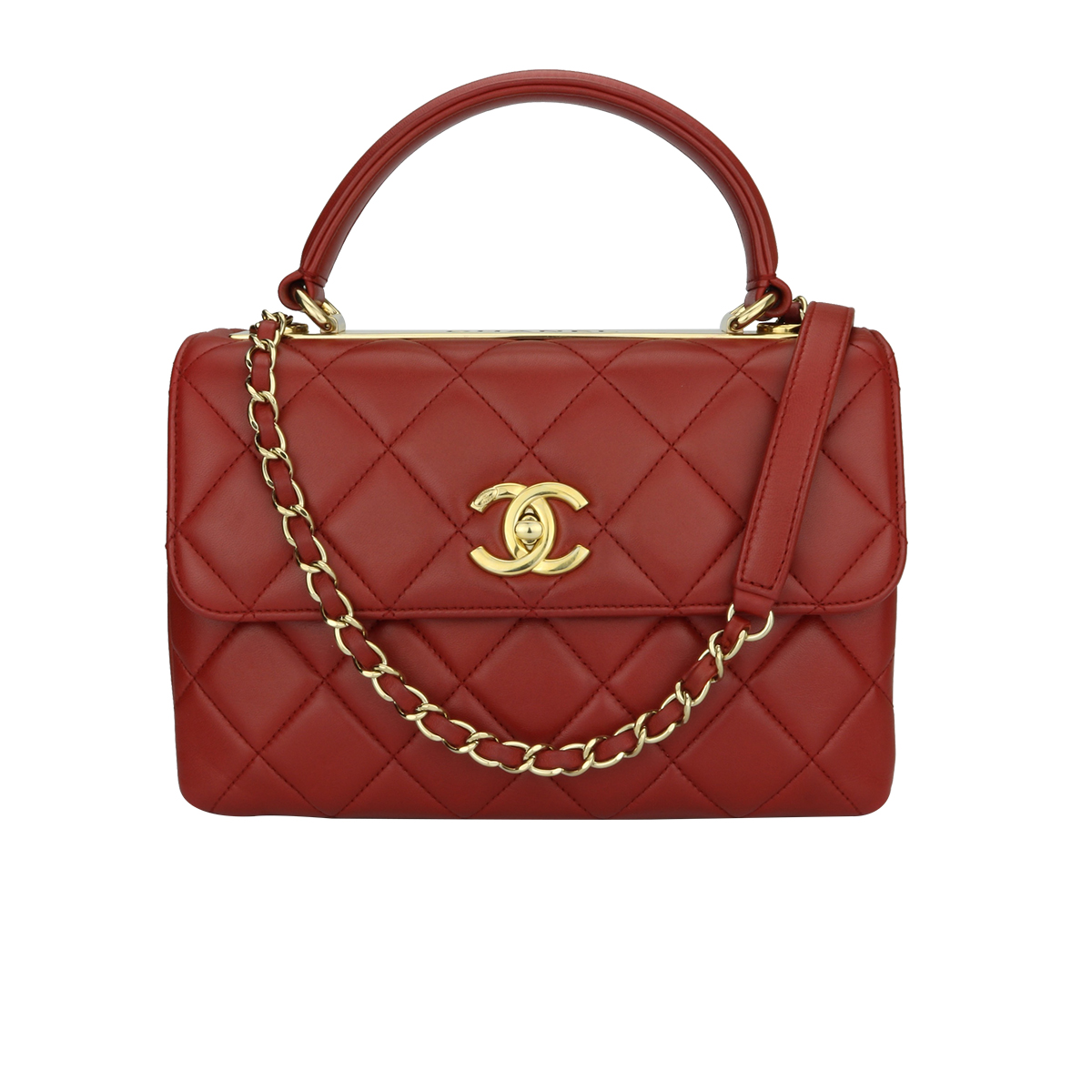 9fa6c0c6a0ba Home Chanel CHANEL Trendy CC Small Red Lambskin Gold Hardware 2017.   