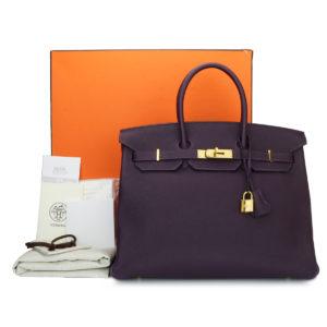 262c60678453 Hermès Birkin 40cm Blue Jean Togo Leather with Palladium Hardware ...