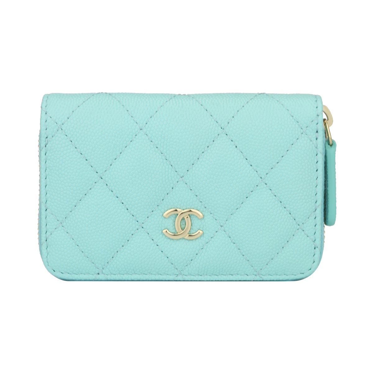 cf6aef7704fd Home/Chanel/CHANEL Small Coin Purse Tiffany Blue Caviar Light Gold Hardware  2018. ; 